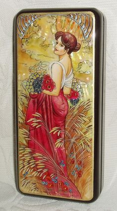 "Beautiful Hand Painted Russian Lacquer box ""Summer"""