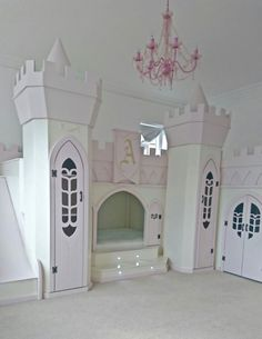 Princess castle bed palace themed bedroom by Dreamcraft Furniture