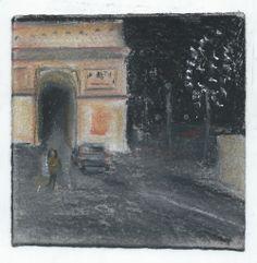 Arc de Triomphe. Arc of triumph. Paris. Andi Ipaktchi illustration.