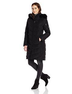 Calvin Klein Women's Mid Length Chevron Down Coat, Black, Small Calvin Klein http://www.amazon.com/dp/B00L40LN10/ref=cm_sw_r_pi_dp_ELzDub0PMXGKQ