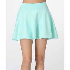 LARA Fashion Mint Circle Skirt ($9.99) ❤ liked on Polyvore featuring skirts, long flared skirt, stretch skirt, mint skirt, elastic waist skirt and blue skirt