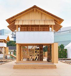 Japanese Architect Atelier Bow-Wow has partnered with Muji to conceive a dual residence in the farm and city for the House Vision 2016 exhibition held in Tokyo. Bow Wow, Future House, Architecture Du Japon, Interior Architecture, Muji Hut, Sou Fujimoto, Japanese House, Prefab Homes, Architect Design