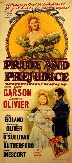 """Pride And Prejudice"" (1940) Laurence Olivier, Greer Garson, Maureen O'sullivan"