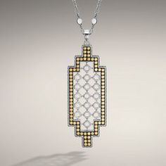 John Hardy DOT COLLECTION Large Geometric Drop Pendant on Chain Necklace