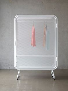 The credit goes to this Name: Harold  Designer: Jesse Visser  Location: Amsterdam, The Netherlands  Year: 2014  Harold is a minimalist design created by Netherlands-based designer Jesse Visser. A expanded metal cabinet that can be used as wardrobe as well as storage for offices.