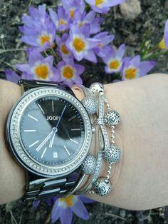 Pandora bangle, essence and crocus love.