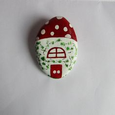 Painted rock, home decor, outdoor, Fairy House, children, home&living, mixed media, handcrafted