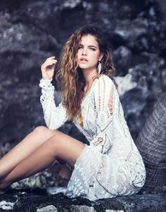 barbara palvin beach shoot6 Barbara Palvin is a Beach Babe in Marie Claire Italia Shoot
