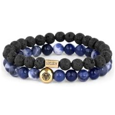 Buy Lucleon - Blue Agate & Lava Miro Bracelet for only Shop at Trendhim and get returns. We take pride in providing an excellent experience. Bracelet Cuir, Bracelet Set, Bracelet Making, Stone Bracelet, Bracelets For Men, Beaded Bracelets, Bracelets Bleus, Engraved Bracelet, Diy Jewelry Making