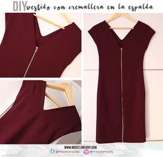 DIY Sewing   Vestido ajustado con cremallera en la espalda