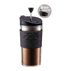 Bodum Travel Press Set  Coffee Maker With Extra Lid 035L 12oz Black Pack of 2 >>> AMAZON BEST BUY   #BakingAppliances