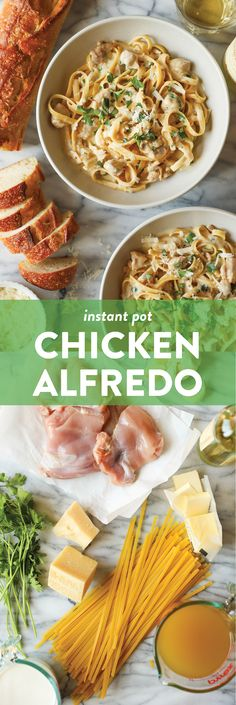 Instant Pot Chicken Alfredo - A one pot, no fuss, no babysitting dinner! Even the uncooked pasta cooks right in the IP, soaking up all that creamy goodness! Instant Pot Pressure Cooker, Pressure Cooker Recipes, Pressure Cooking, Slow Cooker, Damn Delicious Recipes, Homemade Alfredo, Instant Pot Dinner Recipes, Chicken Alfredo, How To Cook Pasta