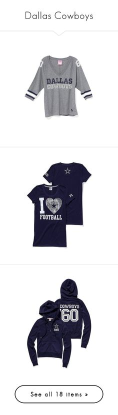 """Dallas Cowboys"" by farmersdaughter511ga ❤ liked on Polyvore featuring tops, t-shirts, shirts, women, print shirts, 3/4 sleeve tee, print t shirts, 3/4 length sleeve t shirts, three quarter sleeve shirts and home"