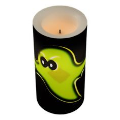 Spooky Ghost Flameless Candle - halloween decor diy cyo personalize unique party