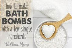 How to make bath bombs with a few simple ingredients