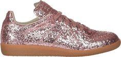 Maison Margiela Women's Glitter Sneakers-Pink