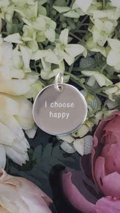 'I choose happy' - Engraved pendant made of sterling silver. Our jewellery makes such a unique gift and you can customise it to make it even more personal - check out the Zeal & Heart website to see the full range! Cool Gifts For Women, Unique Gifts, Best Gifts, Fun Gifts, Engraved Jewelry, Personalized Jewelry, I Choose Happy, Delicate Jewelry, Silver Jewelry