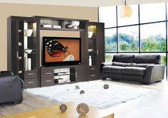 Chrystie Entertainment Center Wall Unit - modern - furniture - new ...