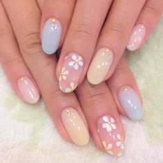 Simple Acrylic Nails, Summer Acrylic Nails, Best Acrylic Nails, Pastel Nails, Rounded Acrylic Nails, Summer Nails, Funky Nails, Edgy Nails, Bling Nails