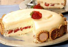 Torta Holandesa de Morango com Chocolate Branco confira essa receita na integra, faça para seus convidados e clientes, eles vão adorar essa novidade.  Veja Também: Bolo Cremoso de Abacaxi Veja Também: Torta Mousse de Morango Veja Também: Glacê