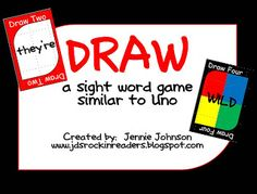 Classroom Freebies: DRAW- A Sight Word Game