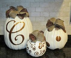 Vinyl pumpkin Decals by CGVinylDesigns on Etsy