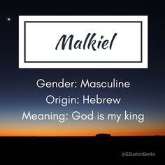 Malkiel - boy's name