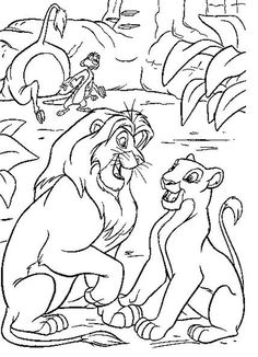 Lion King 6 Colouring Pages