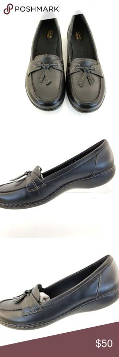 Clarks Slip-on Loafers Womens  Ashland Bubble Clarks Slip-on Loafers Womens  Ashland Bubble Bendables Size 10M BLACK SOLID Clarks Shoes Flats & Loafers