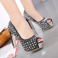 silver gold bridal wedding shoes rhinestone paillette open toe platform  comfortable latest fashion formal dress shoes 8f5a0f050bbf