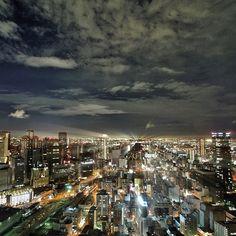 What's up buddies?! Night view from Shin Umeda City Osaka. It was very wonderful 3days vacation! - @Jun Kitahara- #webstagram