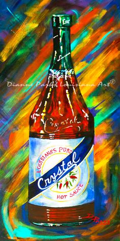 Awesome Sauce! Crystal! Art Print, FREE SHIPPING! New Orleans Art Print, Crystal Hot Sauce, Louisiana Hot Sauces, New Orleans Food Art Gift