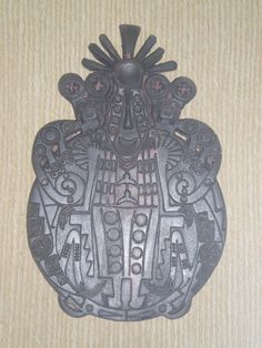 """Disco de Bronce, """"Cajlle"""", Cultura La Aguada (500-800 d.c.), museo El Shincal, Londres, Catamarca, Argentina."""