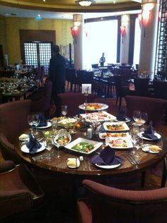 Private dinner in restaurant Premier.  Renaissance Monarch