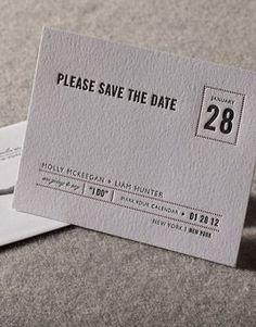 Creme Brulee affordable wedding invitations Letterpress Wedding Invitations