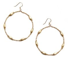 Keranga: Gold Hoop Earrings - Hamlin Fistula Ethiopia (Australia)