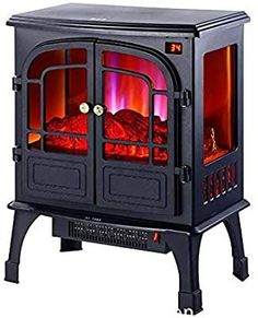 Atten Free-Standing Log Simulation Flame Heating Stove, Flame Burning Effect wit...,  #Atten #burning #Effect #Flame #Freestanding #freestandingfireplacewoodburninghome #Heating #Log #Simulation #stove #wit