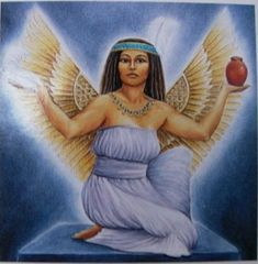 The Bee Goddess. Egyptian Goddess Ma'at, Order, Justice and Balance of the Whole World.