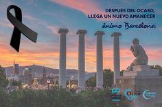 Día gris para todos.Nuestro corazón está con vosotros.  #barcelona
