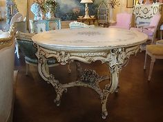 Shabby Vintage Italian Decorated Style Breakfast~Foyer~Dining Roses~2Die4 Table!