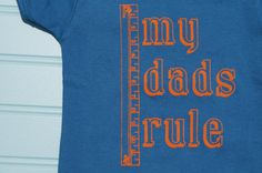 Organic My Dads Rule OnePiece for Kids with Gay Dads by LittleFigs, $18.50