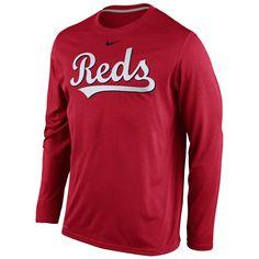 Cincinnati Reds Legend Long Sleeve Wordmark T-Shirt - MLB.com Shop