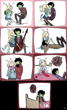 D: Marshall Lee miss Fiona  i don't get why can't Marshall turn Fi into a vampire so she could live forever?! :/ #fioleeweek