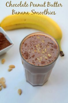 Chocolate Banana Peanut Butter Smoothies  - Real: The Kitchen and Beyond