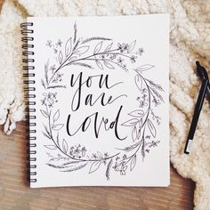 """""""You are Loved"""" from Duende Handlettering."""