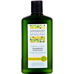 Andalou Naturals Brilliant Shine Shampoo Sunflower and Citrus - 11.5 fl oz - Andalou Naturals Brilliant Shine Shampoo Sunflower and Citrus Description:    Benefits All Hair Types  Fruit Stem Cell Science  Regenerating Fruit Stem Cells  Renew Repair Regenerate  71% Certified Organic Ingredients Andalou Naturals Advanced Fruit Stem Cell Science improves hair follicle longevity and vitality for healthy hair from root to tip.   Citrus gently clarifies and brightens invigorating follicles and…