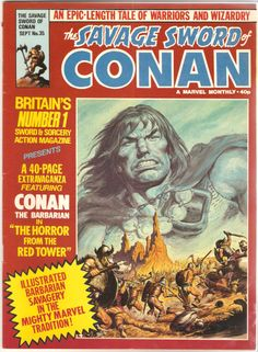 The Savage Sword of Conan. No. 35. U.K. Marvel Comic. Sept. 1980.