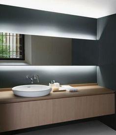 LED Tape Light Kit - 16 Foot Bathroom Mirror Design, Master Bathroom, Bathroom Lighting, Bathroom Taps, Bathroom Cabinets, Bathroom Blinds, Light Bathroom, Cabinet Lighting, Bathroom Mirrors With Lights