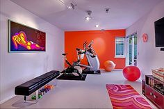 Workout room - Ah I'd love to have a room like this in my house!