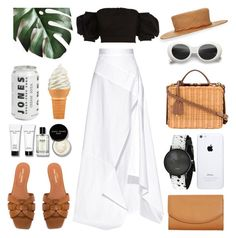"""""""Unbenannt #1062"""" by fashionlandscape ❤ liked on Polyvore featuring Michael Lo Sordo, Yves Saint Laurent, Yestadt Millinery, Mark Cross, Bobbi Brown Cosmetics and Skagen"""